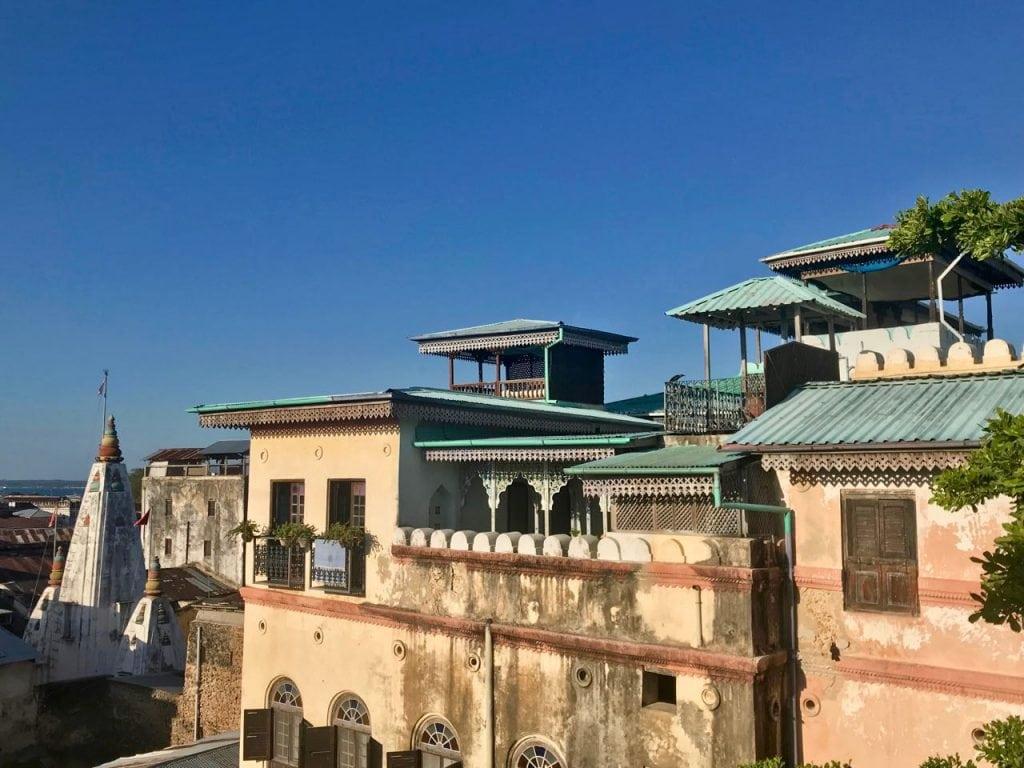 zanzibar capitale stone town vista dall'alto