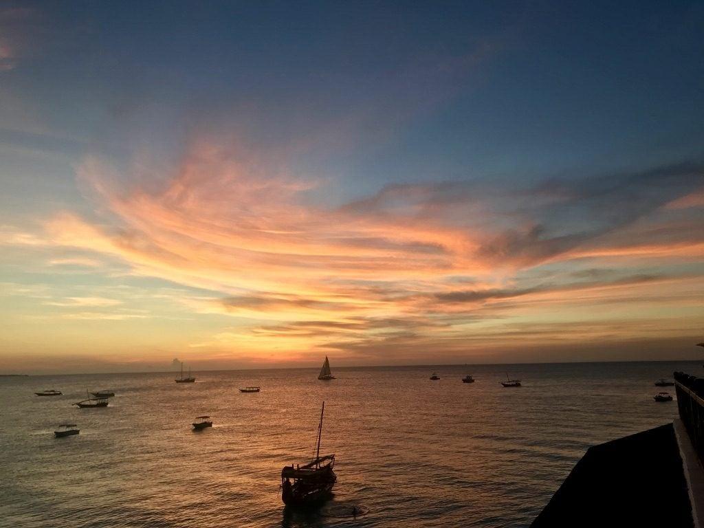 Il tramonto visto dallo Z Hotel di Nungwi