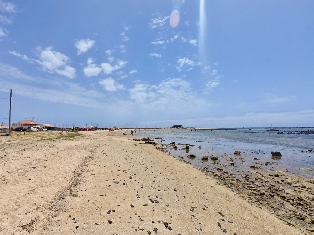 La spiaggia di Baìa das Gatas a Sao Vicente