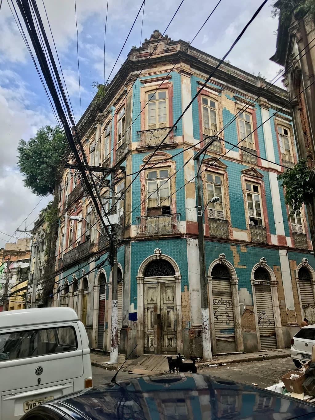 Un edificio coloniale a Belém