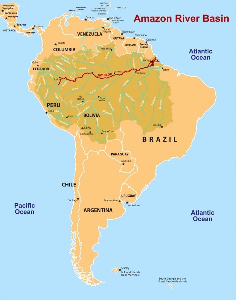 mappa della foresta amazzonica