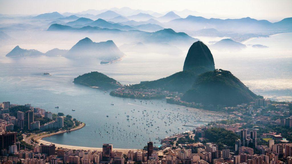 Veduta aerea di Rio de Janeiro, punto di partenza per il tuo itinerario brasile 2 settimane