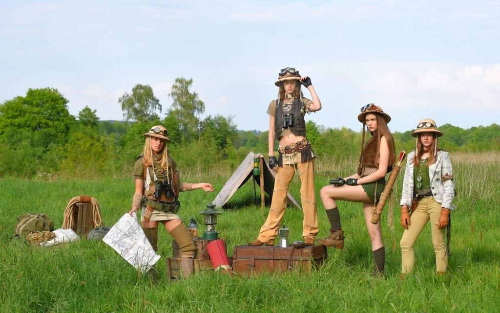 pantaloni safari donna