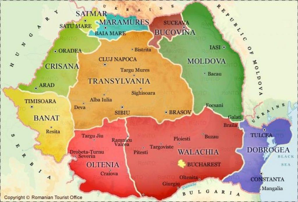 Transilvania mappa