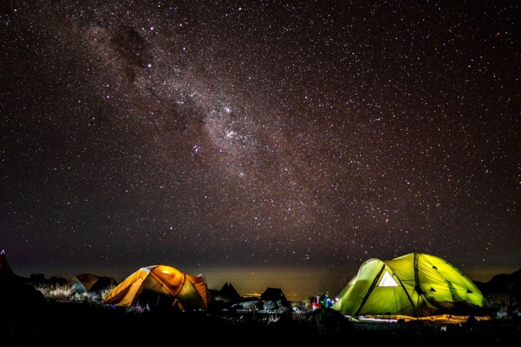 Kilimangiaro trekking notte