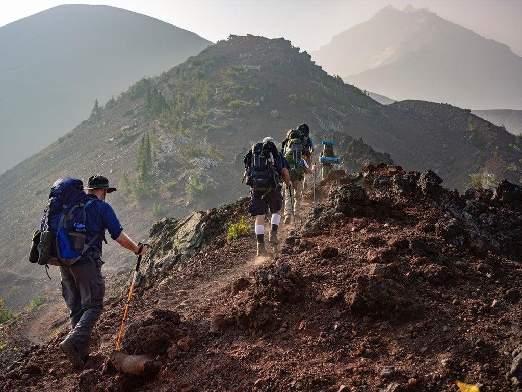 bastoncini trekking carbonio